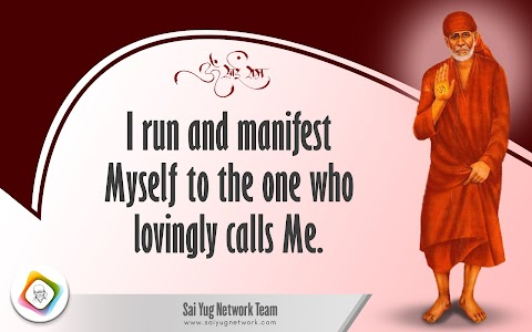 Run And Manifest - Sai Baba Blessing Painting Image