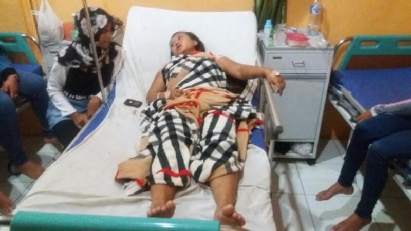 Amelia Nasution saat dirawat di RSUD Padang Sidempuan