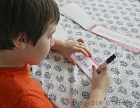 Bulldozer using the Beginning Montessori-inspired Sentence Challenges