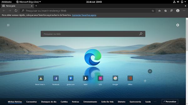 Navegador Microsoft Edge para Linux liberado no canal dev - Dicas Linux e Windows