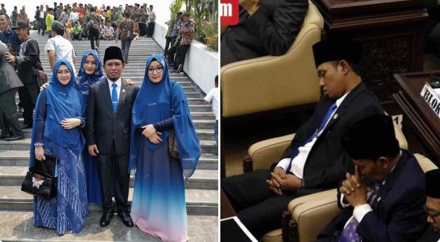 Bawa 3 Istri ke Pelantikan, Anggota DPR Ini Tertidur di Sidang Perdananya, Ngaku Kelelahan