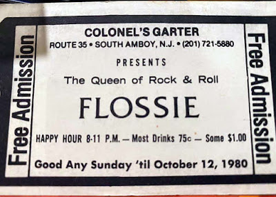Colonel's Garter free admission pass to see Flossie 1980