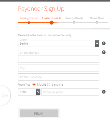 Registracija za Payoneer MasterCard - Tutorijal