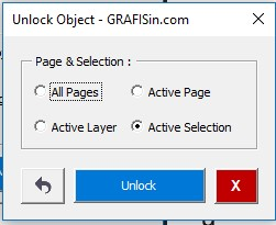GRAFISin Free Macro Unlock Object for CorelDraw