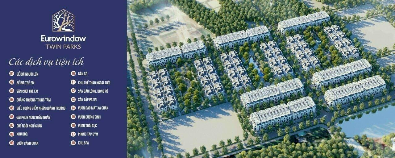 Eurowindow Twin Parks là dự án nổi bật nhất Gia Lâm hiện tại.