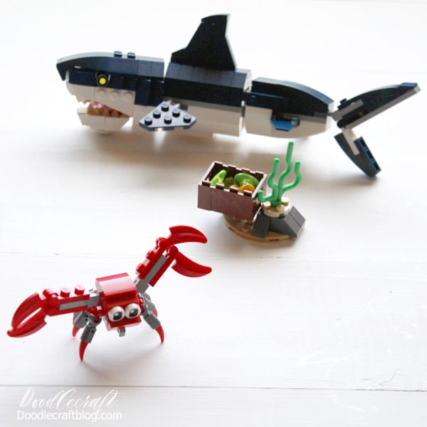 Shark Deep Sea Creatures Lego Creator 3 in 1 Set