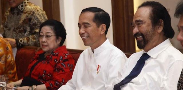 Kasihan Jokowi Terjepit Gesekan Megawati dan Surya Paloh