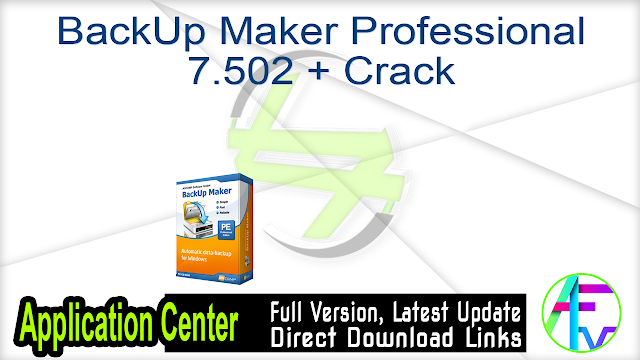 BackUp Maker Professional 7.502 + Crack