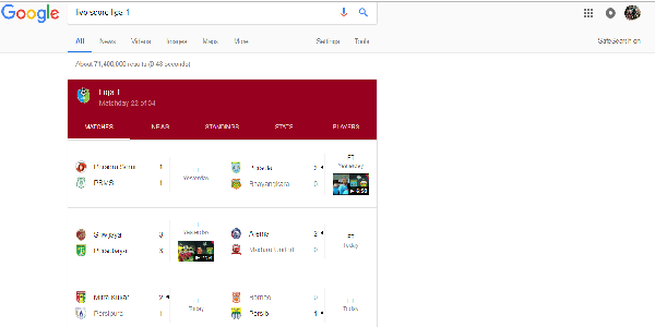 Live Score Liga 1 Indonesia
