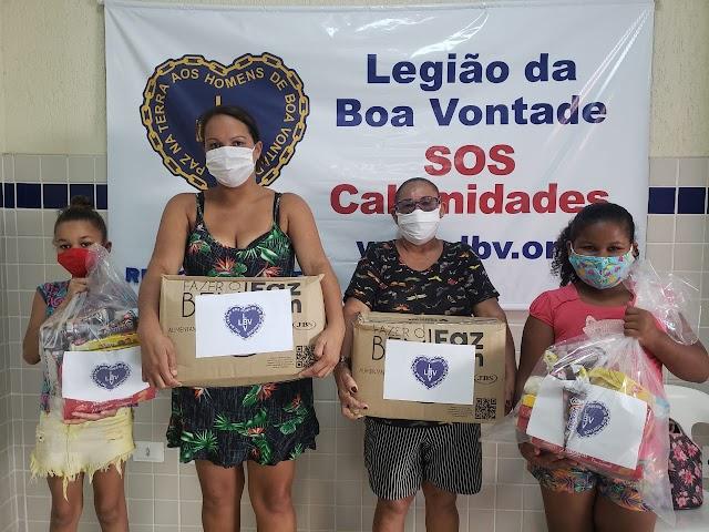LBV no amparo as famílias que sofrem com os impactos do Covid