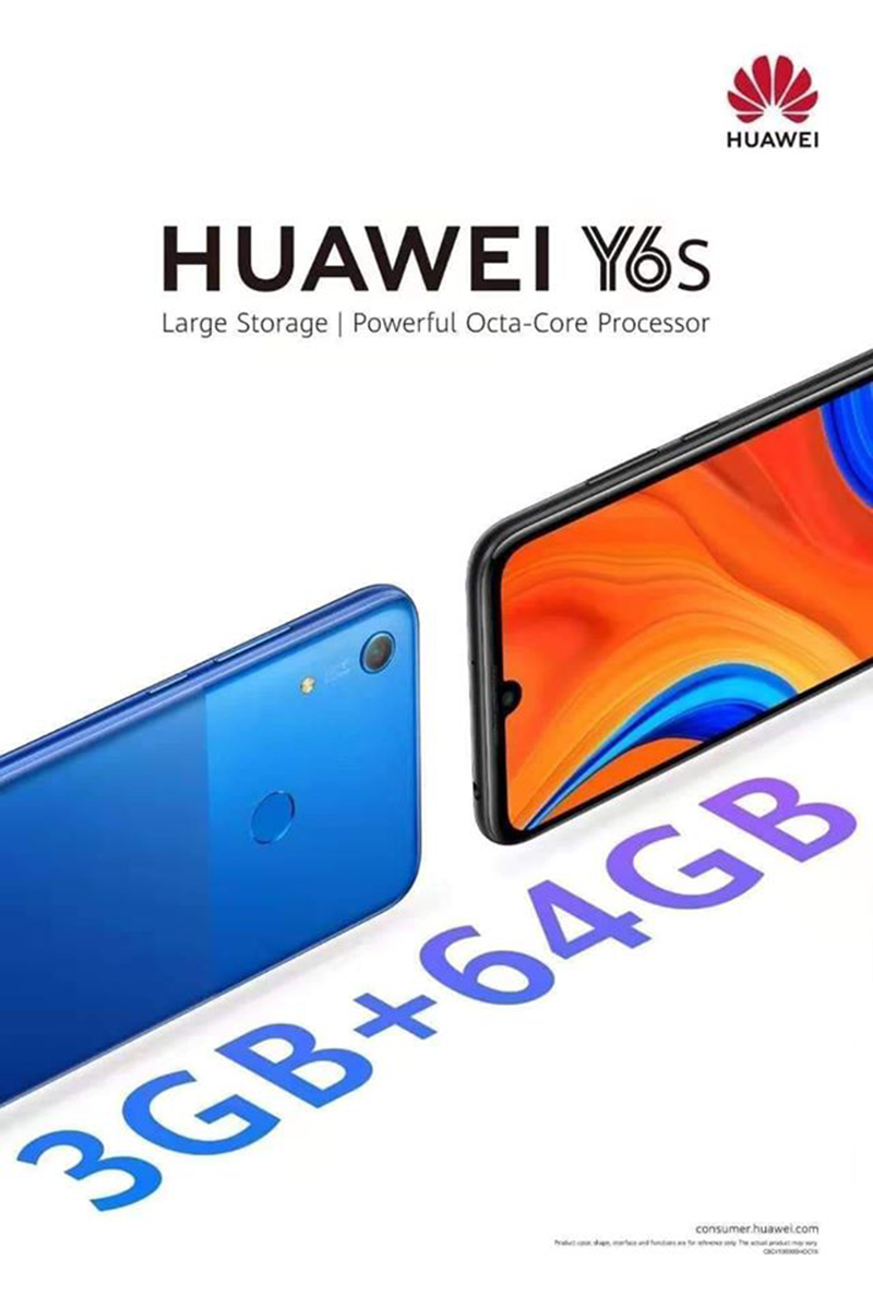 Huawei Y6s with 64GB storage is coming, priced at PHP 6,990