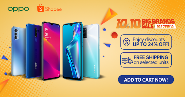 OPPO Gadgets are now 24% OFF at Shopee's 10.10 Big Brands Sale