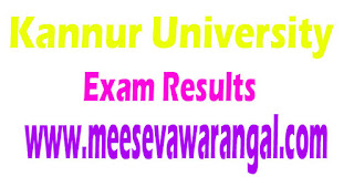 Kannur University BA/ BBA/ BBM / BSW IVth Sem May 2016 Exam Results