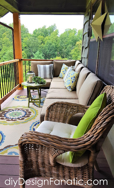 Deckorators, deck, porch, mountain cottage, summer, summer decorating, appalachian parkway, blue ridge
