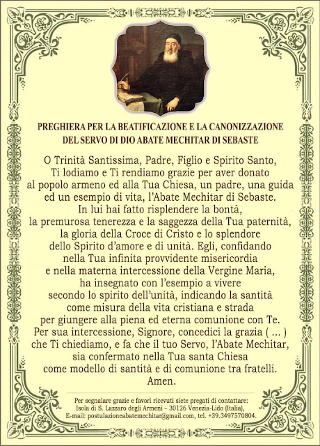 Preghiera a Mechitar italiano