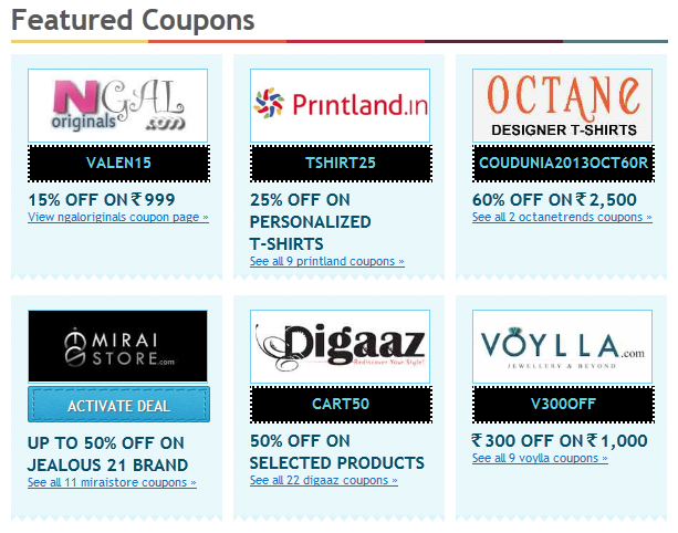 Finding Coupons And Great Deals Coupondunia Stylish By