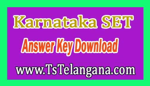Karnataka SET 11th Set Wise (A/B/C/D) Answer Key Download 2016