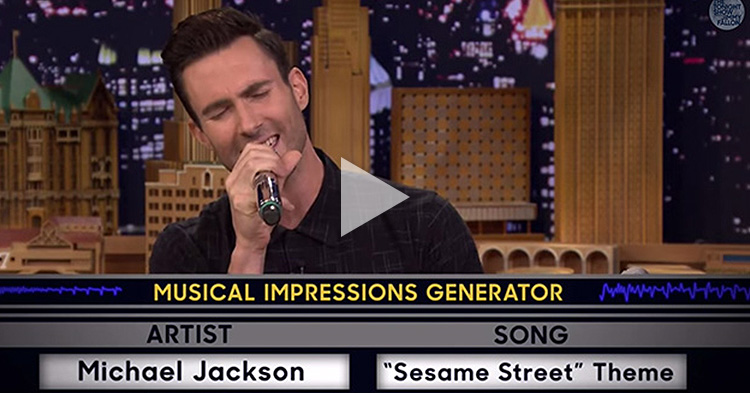 Adam Levine of Maroon 5 impersonating Michael Jackson effortlessly