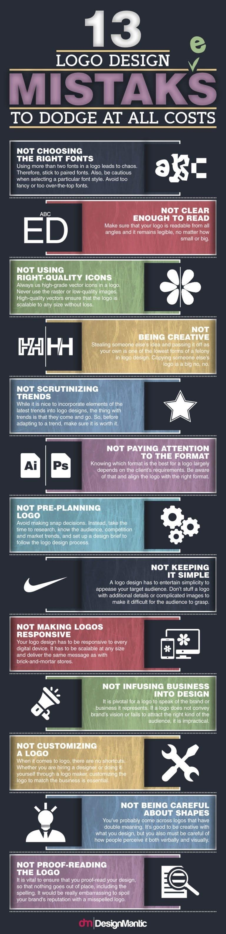 13 Logo Design Mistakes That Could Affect Your Reputation #infographic