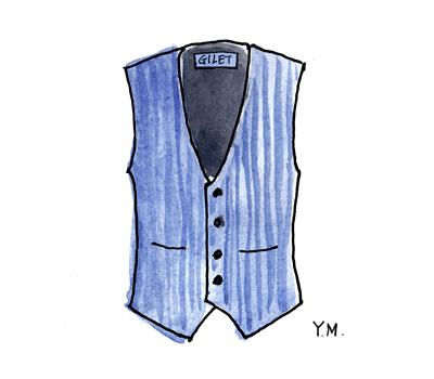 Vest by Yukié Matsushita