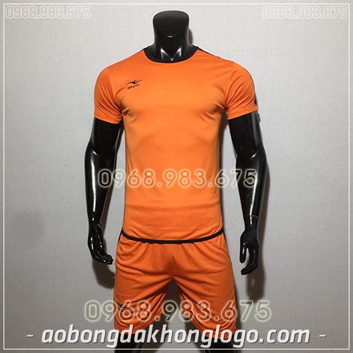 Áo bóng đá ko logo KeepFly Zuka màu cam