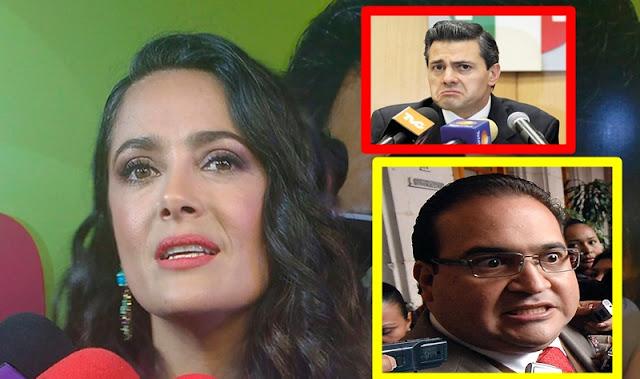 """EPN... """"¿Qué va a pasar con el dinero que Duarte se llevó?"""": Salma Hayek"""