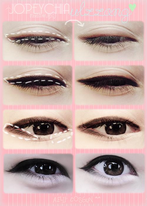 Ulzzang Makeup Tips: Ariska Pue's Blog: Korean Eyes Makeup
