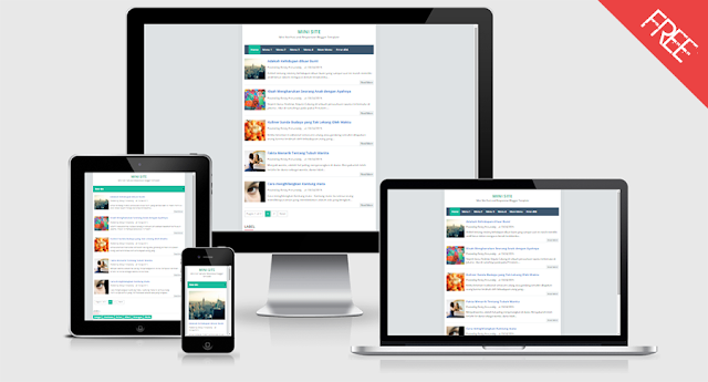 MiniSite Responsive Blogger Template