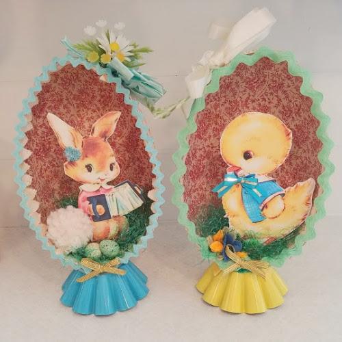 Upcycled Vintage Easter Egg Diorama