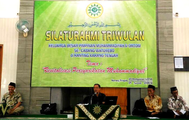 Silaturahmi triwulan Muhammadiyah cabang watukebo