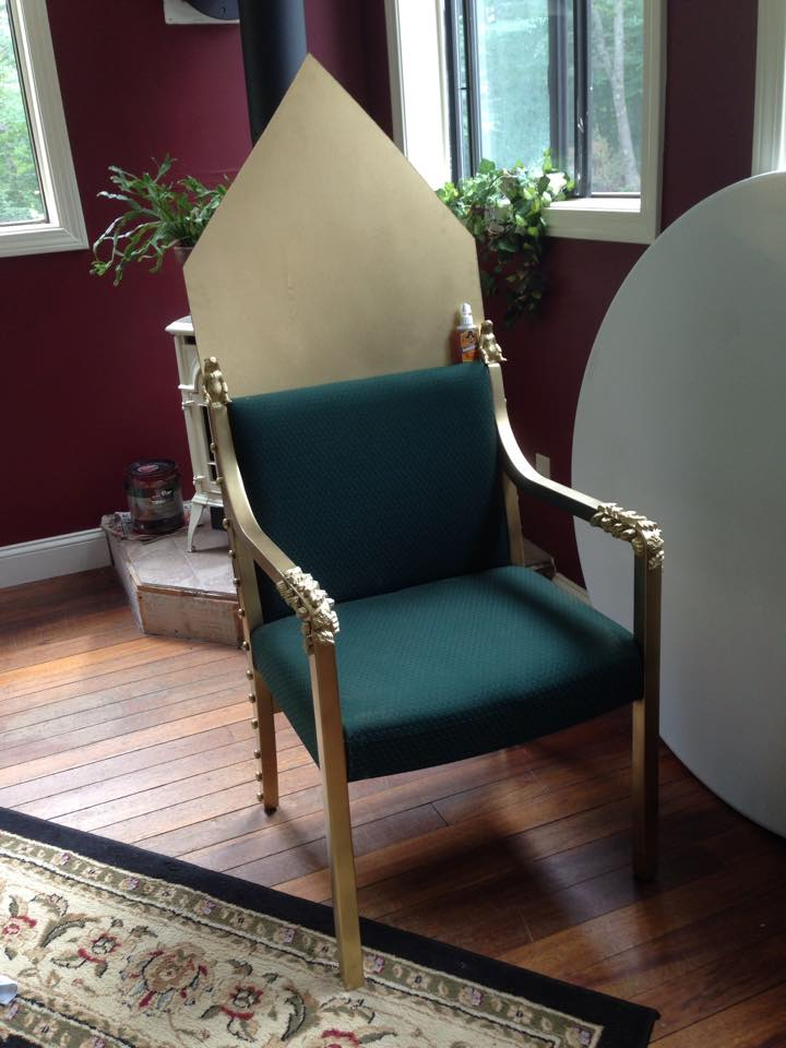 how to make a queen throne chair replacement slings for pvc chairs b princeton diy royal