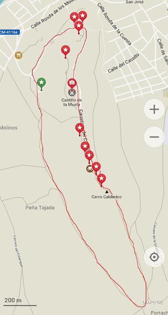 mapa de ruta molinos de viento Consuegra
