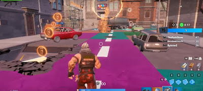 Downtown Drop Challenges, Fortnite, Jordan X, Change Tile Color, First Challenge