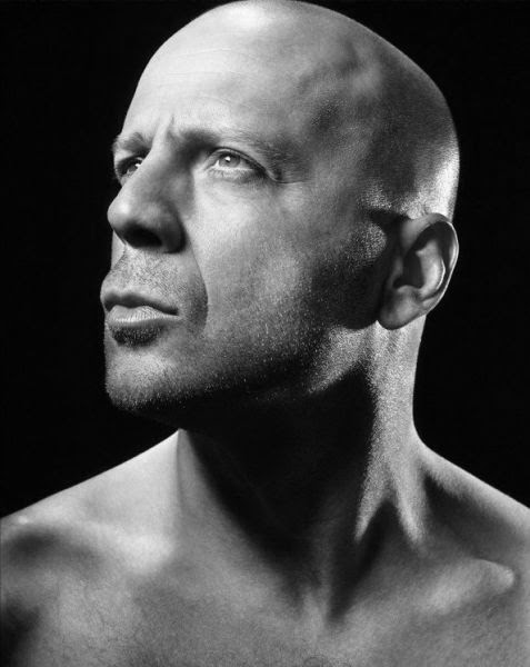 bruce willis famous skinhead portraits faces photographs historical portrait celebrity celebrities male celebs bald handsome actresses boy very