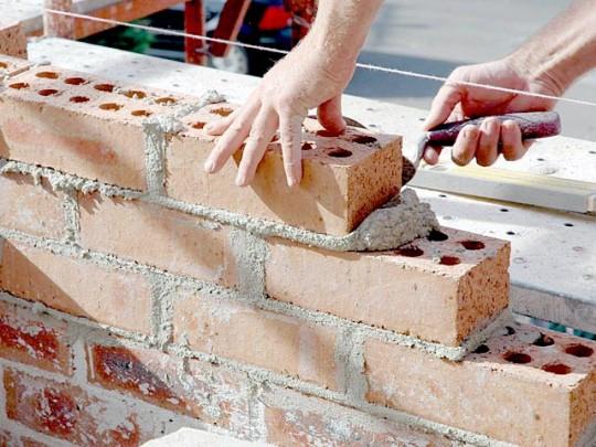 Contruccion de Muro de Ladrillo