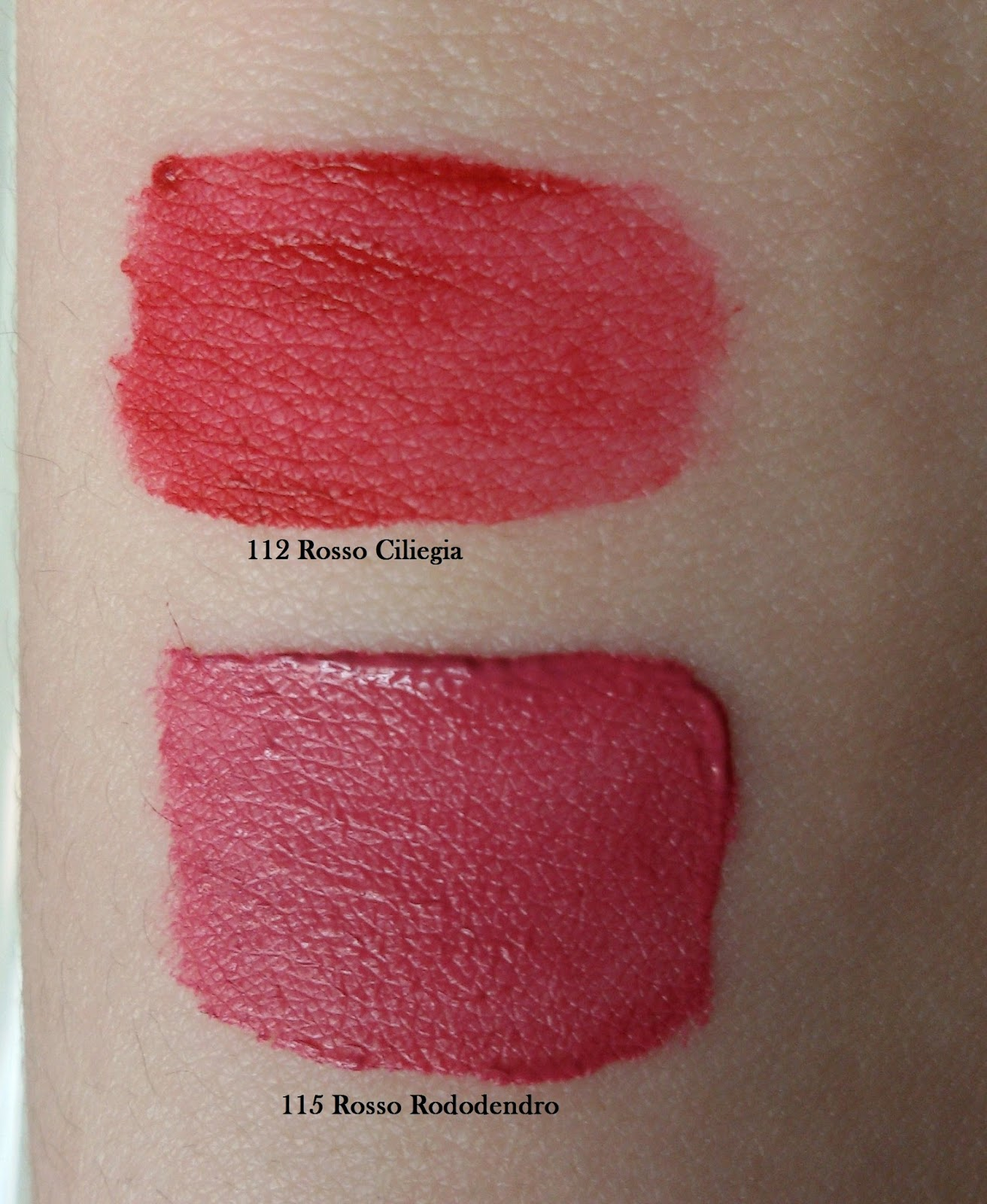 Double Touch Lipstick 112 e 115 swatch