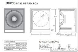 Skema Box Bass Reflex 15 inch Tipe BR030