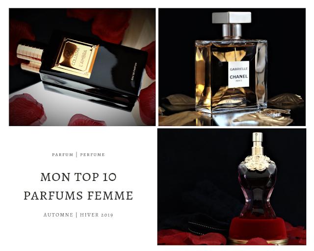 top 10 parfum femme automne hiver, meilleurs parfums femme 2019, parfum femme automne hiver 2019