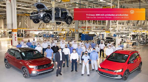 VW T-Cross terá aumento de produção com fim de linha do Fox