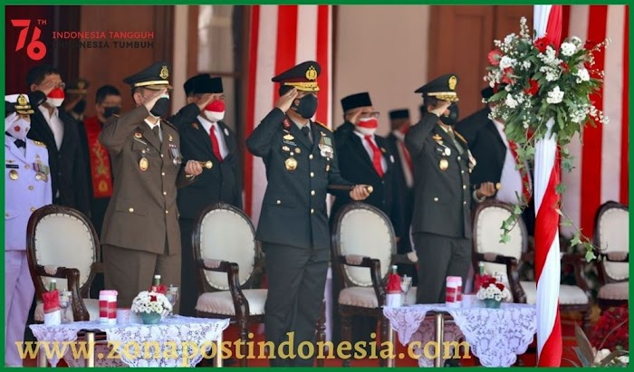 Upacara Peringatan HUT RI ke 76, Dipimpin Langsung Oleh Gubernur Jatim