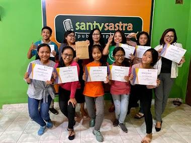 Program Santy Sastra Public Speaking : SSP Club Angkatan 39 (Pelatihan MC, Penyiar, Presenter)