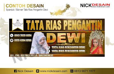 Contoh Desain banner Spanduk Warna Gold / Emas