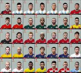 PES 6 Mega Face-Pack World Cup 2018 vol.2