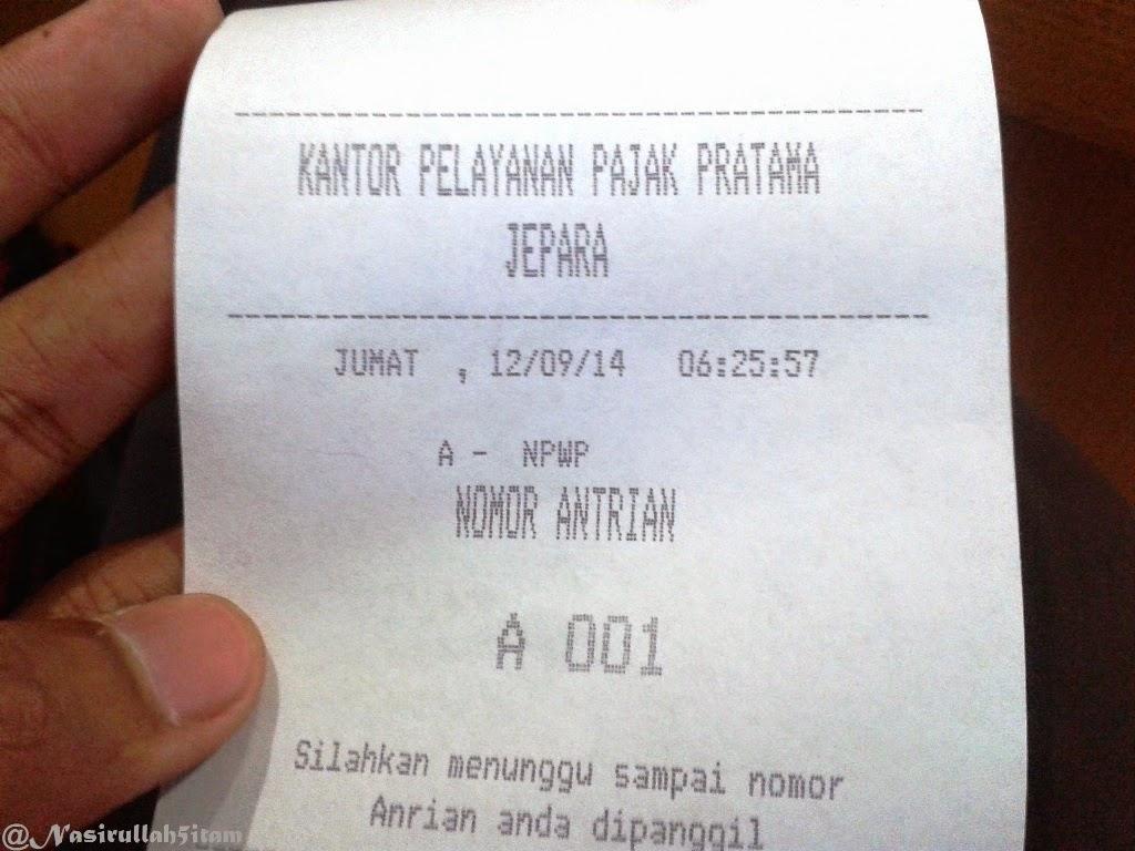 Nomor antrian pertama loh :-)