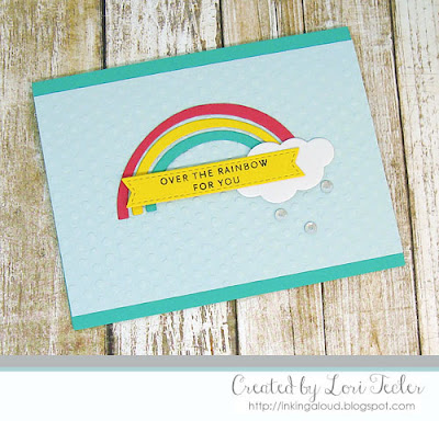 Over the Rainbow for You card-designed by Lori Tecler/Inking Aloud-stamps and dies from Concord & 9th