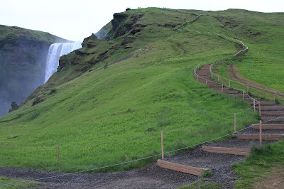 End of the trail at Skogafoss