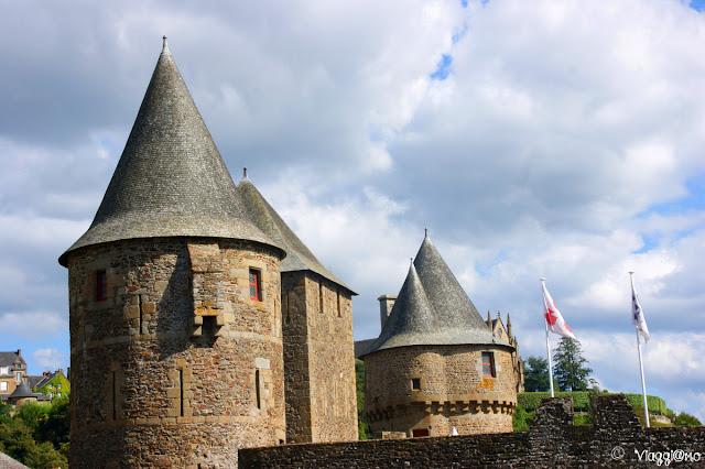 Particolare di alcune torri del castello di Fougeres