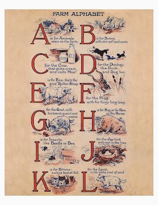 alfabeto animali fattoria