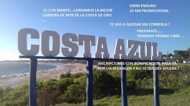 MTB en Costa Azul (Canelones, 03/mar/2018)