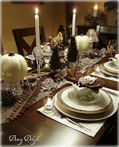 White Pumpkins & Crystal for Thanksgiving